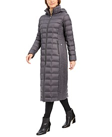 Hooded Maxi Down Puffer Coat