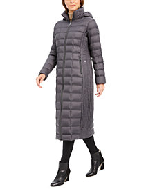 Michael Michael Kors Hooded Maxi Down Puffer Coat