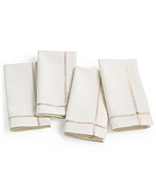 Ivory Twinkle Border Napkins, Set of 4