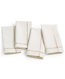 Elrene Ivory Twinkle Border Napkins, Set of 4