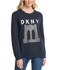 DKNY Sparkle Bridge Logo Sweatshirt
