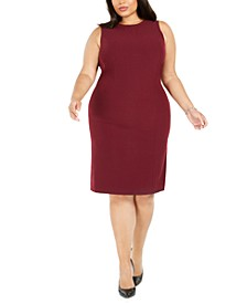 Plus Size Sleeveless Sheath Dress
