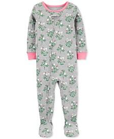 Carter's Toddler Girls Cotton Footed Floral Pajamas