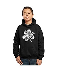 Boy's Word Art Hoodies - Kiss Me I'M Irish