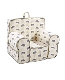 Kangaroo Trading Co. Classic Kid's Grab-N-Go Chair, Cubby Lead with Conran Toast