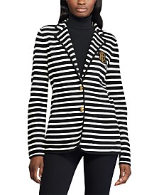 Lauren Ralph Lauren Petite Stripe-Print Stretch Sweater Blazer