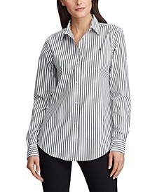 Petite Stripe-Print No-Iron Shirt