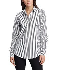 Lauren Ralph Lauren Petite Stripe-Print No-Iron Shirt