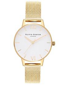 Women's Gold-Tone Stainless Steel Mesh Bracelet Watch 30mm