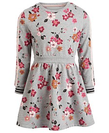 Epic Threads Little Girls Floral-Print Sweatshirt Dress, Created for Macy's