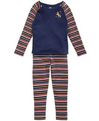 Little Girls Striped Unicorn T-Shirt, Created for Macy's