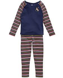 Toddler Girls Unicorn T-Shirt & Striped Leggings, Created for Macy's
