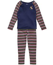 Epic Threads Little Girls Unicorn T-Shirt & Striped Leggings, Created for Macy's