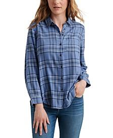 Classic One-Pocket Plaid Shirt