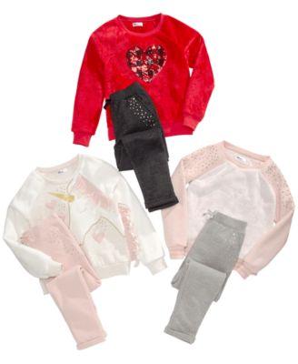 Big Girls Sparkle Fleece Jogger Pants, Created for Macy's