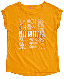 Epic Threads Big Girls No Rules T-Shirt, Created For Macy's