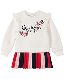 Tommy Hilfiger Toddler Girls Pintucked Fleece Dress