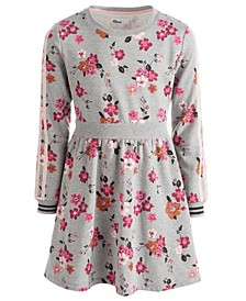 Big Girls Floral-Print Sweatshirt Dress, Created For Macy's