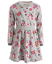Epic Threads Big Girls Floral-Print Sweatshirt Dress, Created For Macy's