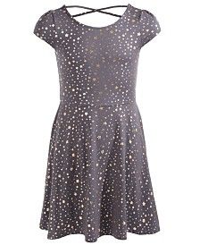 Epic Threads Big Girls Metallic Star-Print Dress, Created For Macy's