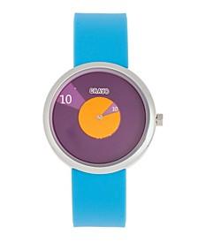 Unisex Pinwheel Light Blue Silicone Strap Watch 38mm