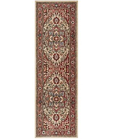 """Quentin LRL1298C Red and Beige 2'6"""" X 8' Runner Area Rug"""