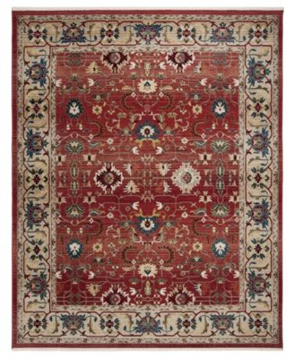 Ines LRL1293C Red and Beige 8' X 10' Area Rug