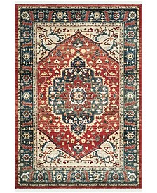 Chloe LRL1221A Red and Navy Area Rug