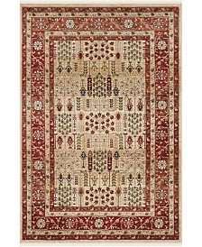 Margaux LRL1297C Red and Beige Area Rug