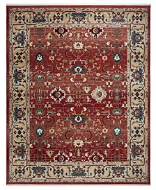 Ines LRL1293C Red and Beige 10' X 13' Area Rug