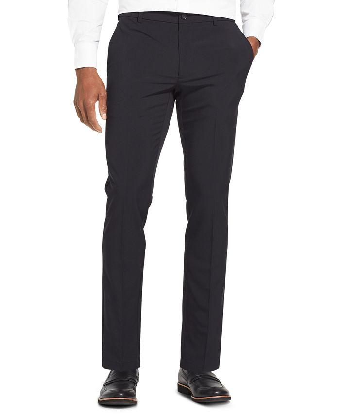 Van Heusen - Men's Flex 3 Slim-Fit 4-Way Performance Stretch Non-Iron Flat-Front Dress Pants