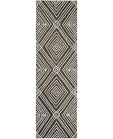 """Isabella LRL6608F Charcoal 2'3"""" X 8' Runner Area Rug"""