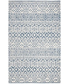 """Theresa LRL6650A Ivory and Blue 2'3"""" X 8' Runner Area Rug"""