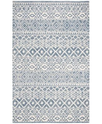 Theresa LRL6650A Ivory and Blue 5' X 8' Area Rug