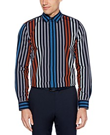 Men's Regular-Fit Stripe-Print Shirt
