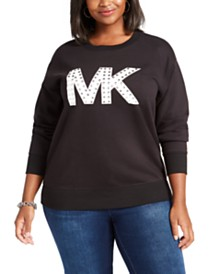 Michael Kors Plus Size Studded Logo Sweatshirt