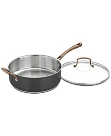 Onyx Black & Rose Gold 5.5-Qt. Sauté Pan & Lid