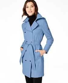 Calvin Klein Hooded Double-Breasted Trench Coat, Created for Macy's