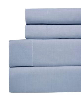 Yarn Dyed Chambray Full 4-pc Sheet Set, 200 Thread Count 100% Cotton