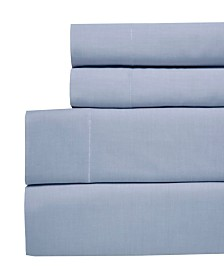 Westport Yarn Dyed Chambray 4-Pc Sheet Sets, 200 Thread Count 100% Cotton