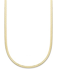 "18""-24"" Herringbone Chain Necklaces in 18K Gold-Plated Sterling Silver, Created for Macy's"