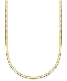 "Giani Bernini 18""-24"" Herringbone Chain Necklaces in 18K Gold-Plated Sterling Silver, Created for Macy's"