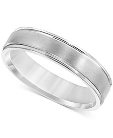 Men's Satin Finish Band in Sterling Silver