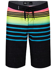 Hurley Toddler Boys Striped Colorblocked Swim Trunks