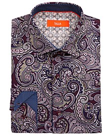 Men's Slim-Fit Performance Stretch Paisley Dress Shirt