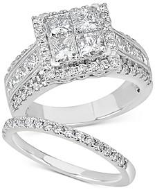 Diamond Princess Bridal Set (3-1/4 ct. t.w.) in 14k White Gold