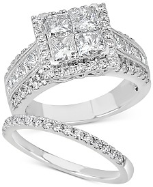Diamond Princess Bridal Set (3-1/4 ct. t.w.) in 14k White Gold