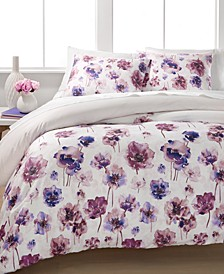 Watercolor Bloom King Duvet Set