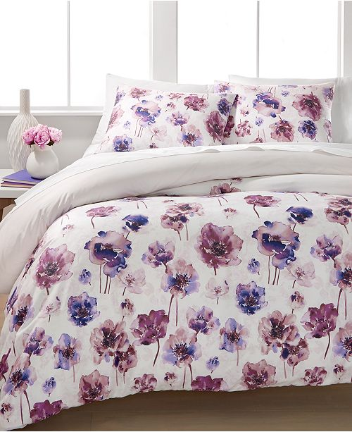 Calvin Klein Watercolor Bloom King Duvet Set