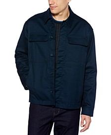 Men's Water-Repellent Performance Stretch Shirt Jacket